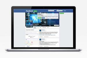 Mockup der Facebook-Startseite von JT-Systems