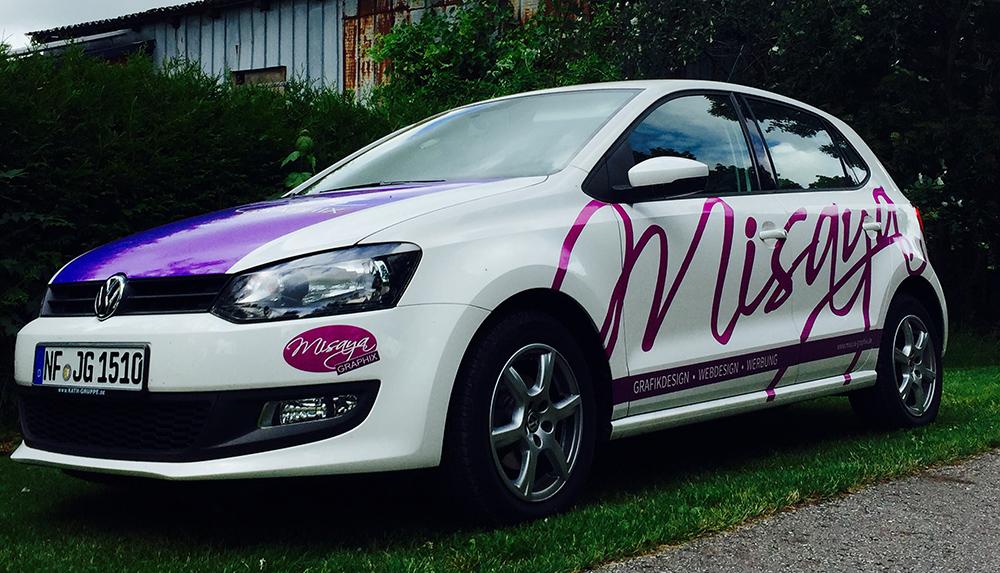 Fahrzeugbeklebung von Misaya Graphix auf einem Volkswagen Polo