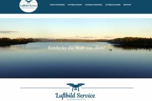Screenshot von der Luftbild Service SH Website