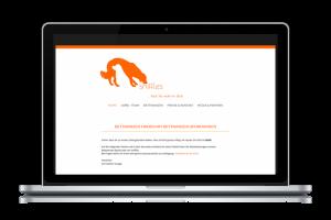Mockup der Sniffels Website Startseite auf einem Laptop