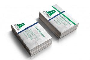 Mockup der Visitenkarten von A-Consult GmbH aus Schleswig