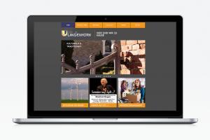 Mockup eines Laptops mit der GVL Wir in Langenhorn Website
