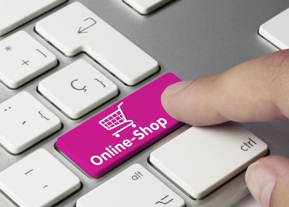 Online-Shop Enter Taste auf einer Tastatur