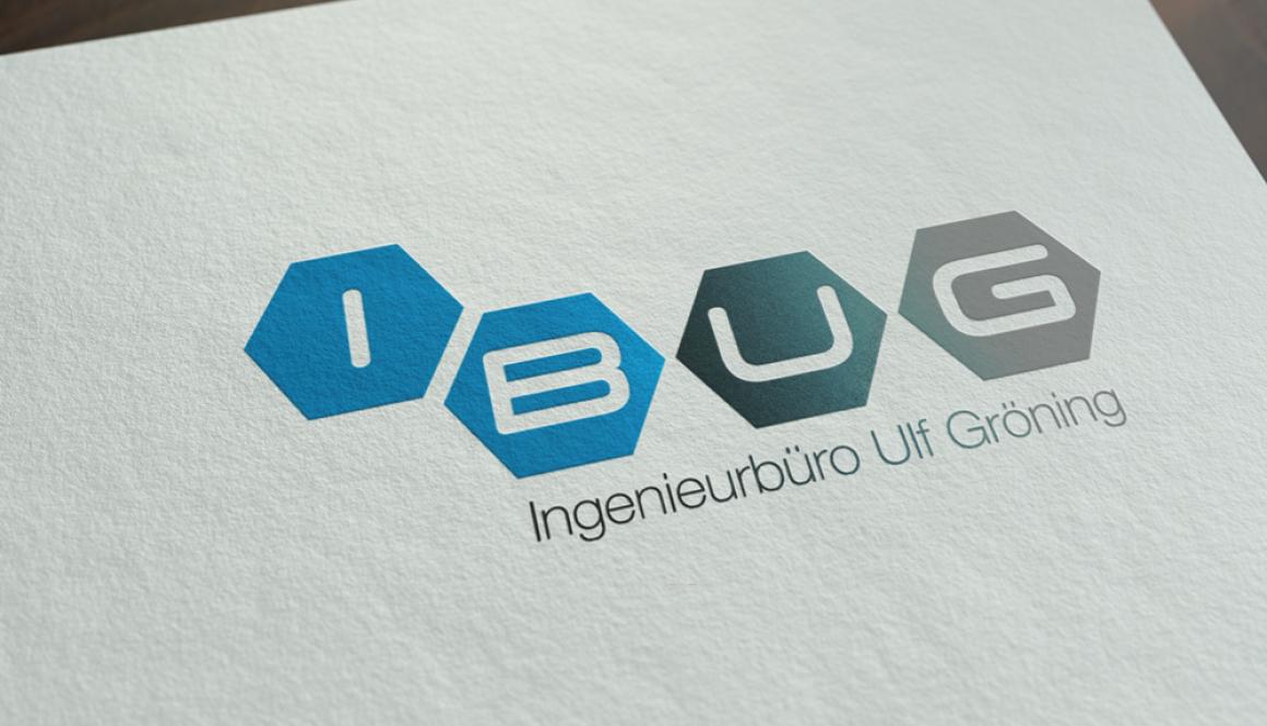 Mockup von dem iBUG GmbH Logo auf weißem Papier