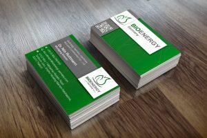 Mockup von Visitenkarten für BioEnergy Germany
