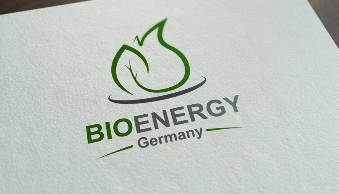 Mockup von dem BioEnergy Germany Logo in grau und grün